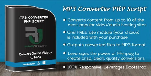 Mp3 Converter PHP Script Plugins, Code & Scripts from CodeCanyon