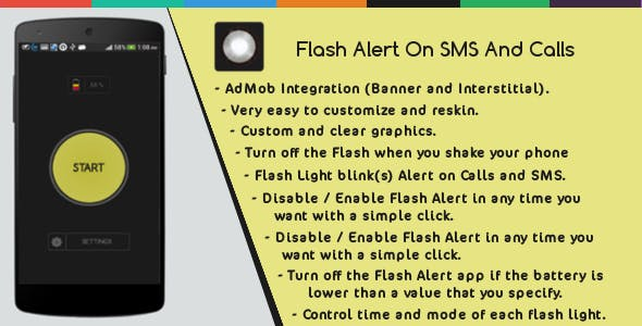 Flash Alert On Sms And Calls