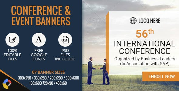 GWD | Conference & Events HTML5 Banners - 07 Sizes