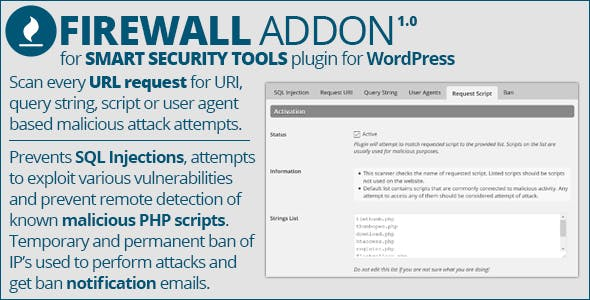 Smart Security Tools: Firewall Addon