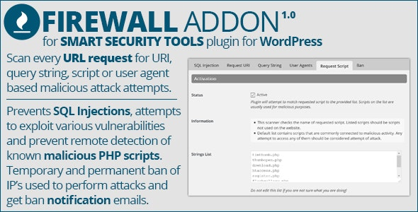 Smart Security Tools: Firewall Addon - CodeCanyon Item for Sale