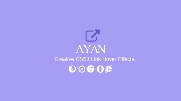 Ayan. CSS3 Link Hover Effects - CodeCanyon Item for Sale