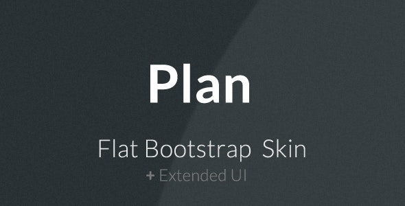 Plan - Flat Bootstrap Skin - CodeCanyon Item for Sale