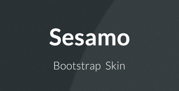 Sesamo - Bootstrap Skin - CodeCanyon Item for Sale