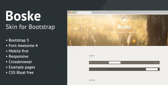 Boske - Skin for Bootstrap 3