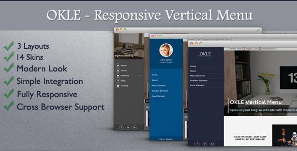 Responsive Vertical Menu - OKLE - CodeCanyon Item for Sale