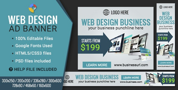 GWD | Web Design HTML5 Banners - 07 Sizes - CodeCanyon Item for Sale