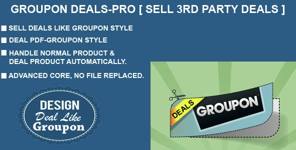 Groupon Deals-PRO (Sell 3rd Party Deals)