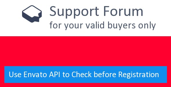 Support Forum with Envato License API - CodeCanyon Item for Sale