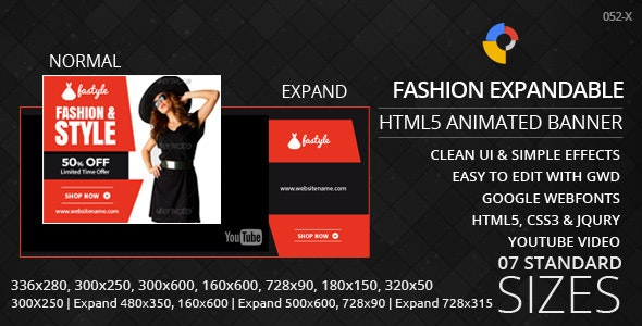 Expandable - HTML5 Ad Banners - CodeCanyon Item for Sale