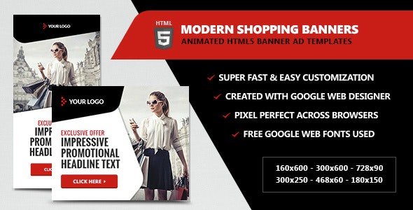Modern Shopping Banners - HTML5 Animated - CodeCanyon Item for Sale