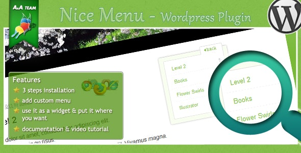 niceMenu - Wordpress Plugin - CodeCanyon Item for Sale