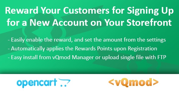 Account Signup Rewards Module for OpenCart (vQmod) - CodeCanyon Item for Sale