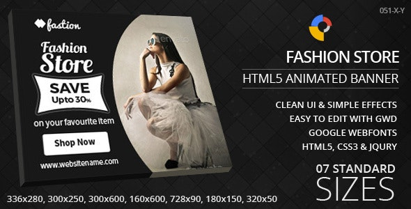 Fashion Store - HTML5 Ad Banners - CodeCanyon Item for Sale