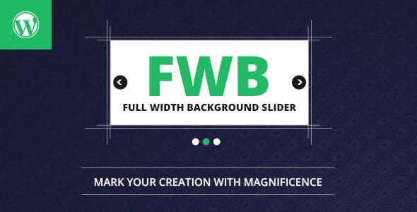 Full Width Background Image Slider