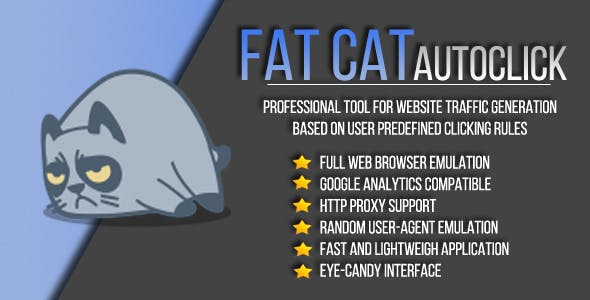 Fat Cat AutoClicker - Professional Clicking Tool