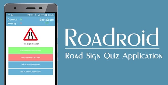 Roadroid - Road Sign Quiz - CodeCanyon Item for Sale