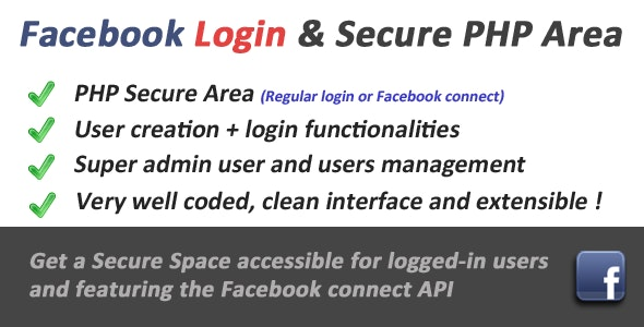 Secure PHP Login with Facebook connect - CodeCanyon Item for Sale