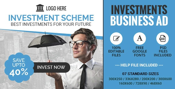 GWD | Investment Schemes Business HTML5 Banner - CodeCanyon Item for Sale