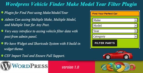 Wordpress Vehicle Finder - Make/Model/Year - CodeCanyon Item for Sale