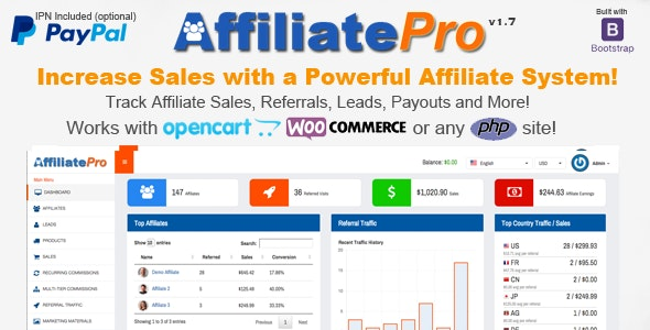 Affiliate Pro - Affiliate Management System - CodeCanyon Item for Sale