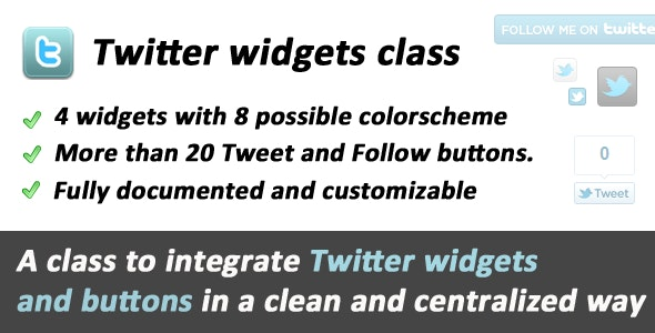 Twitter Widgets and Buttons class - CodeCanyon Item for Sale