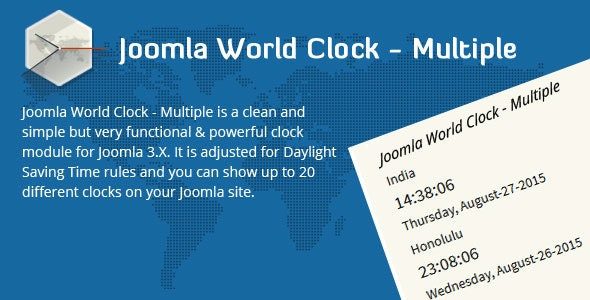 Joomla World Clock - Multiple - CodeCanyon Item for Sale