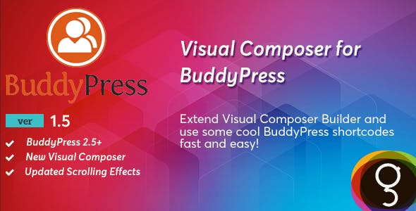 BuddyPress for Visual Composer - CodeCanyon Item for Sale