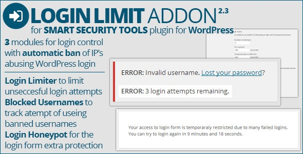 Smart Security Tools: Login Limit Addon - CodeCanyon Item for Sale