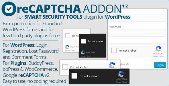 Smart Security Tools: reCAPTCHA Addon - CodeCanyon Item for Sale