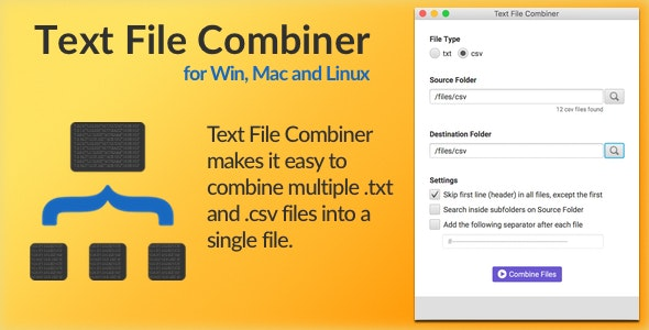 Text File Combiner - CodeCanyon Item for Sale