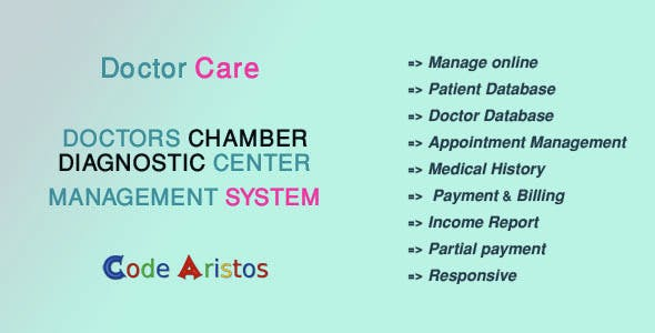 Doctor Care - Diagnostic Center / Doctors Chamber Management System