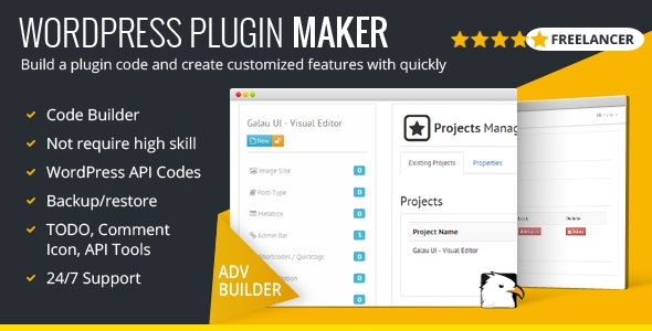 WordPress Plugin Maker - Freelancer Version - CodeCanyon Item for Sale