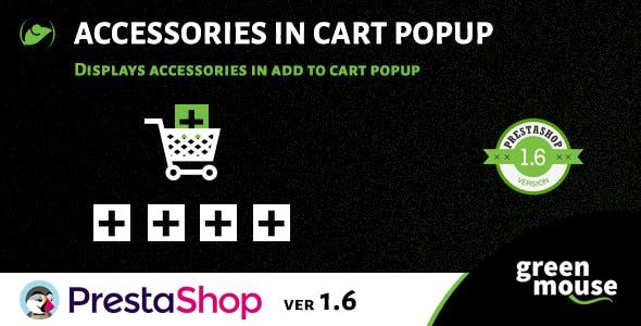 Prestashop Accessories in Cart Popup