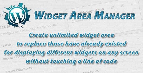 WordPress Widget Area Manager