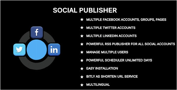 Social Publisher - Facebook, Twitter & LinkedIn Multiple Account - CodeCanyon Item for Sale
