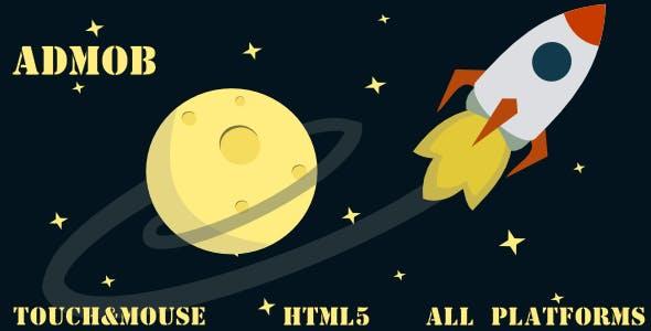Rocket Game HTML5 GAME, MOBILE VESION+ADMOB!!!