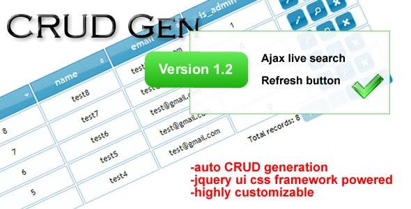 CRUD Gen - CodeCanyon Item for Sale