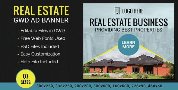 GWD | Real Estate HTML5 Ad Banner - 07 Sizes