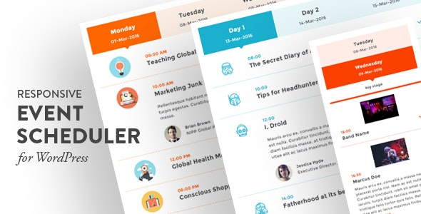 Responsive Event Scheduler for WordPress - CodeCanyon Item for Sale