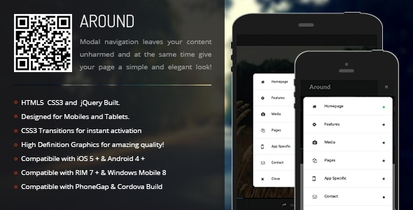 Around   Modal Menu for Mobiles & Tablets - CodeCanyon Item for Sale