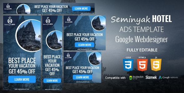 Seminyak Hotel Ads Template - CodeCanyon Item for Sale
