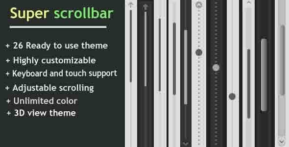 super scrollbar wordpress Plugin