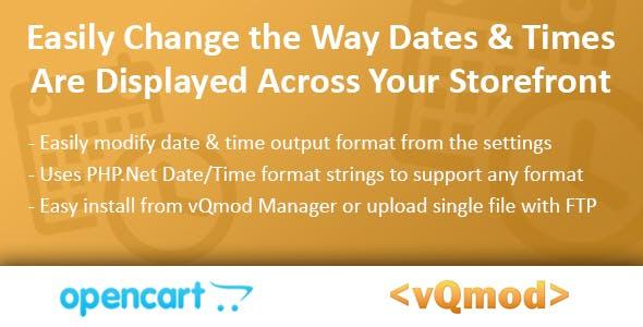 Custom Date Display Module for OpenCart (vQmod)