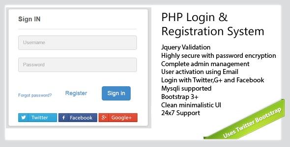 Secure-PHP-Login & Registration System - CodeCanyon Item for Sale