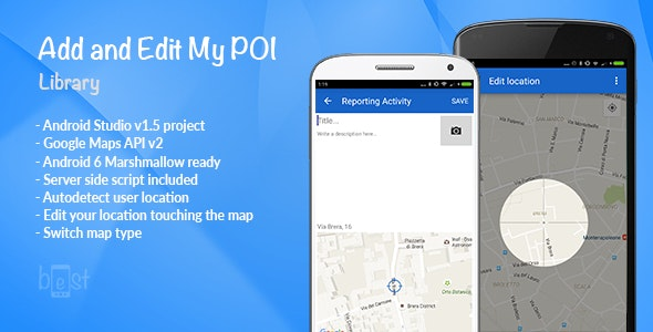 Add and Edit My POI: Library by bandst | CodeCanyon