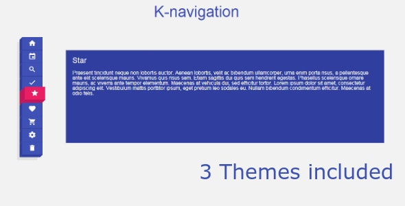 K-NAV Menu - CodeCanyon Item for Sale