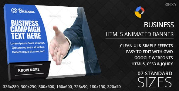 Business - HTML5 ad banners