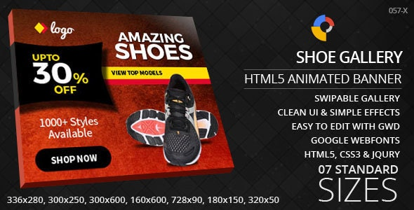Shoe Shop - HTML5 ad banners - CodeCanyon Item for Sale