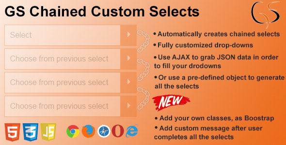 GS Chained Custom Selects - CodeCanyon Item for Sale